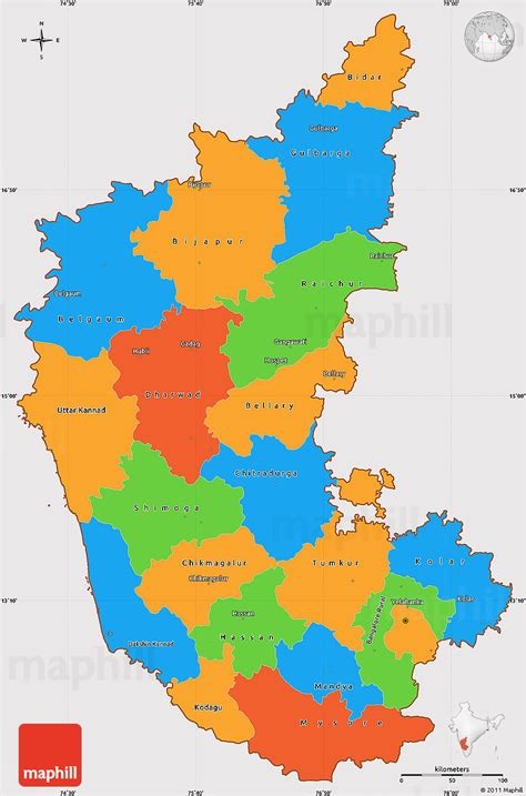 political simple map  karnataka cropped