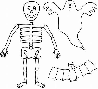 Halloween Coloring Cut Outs Fantasmas Pintar Template