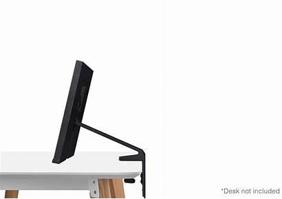 Space Monitor Samsung Desk Stand Adjustable Close