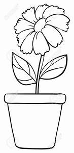 Simple Flower Pot Clipart