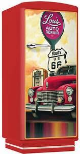 Amerikanischer Kühlschrank Retro Design : amerikanischer retro k hlschrank mit vintage car motiv lou 39 s repair t rkis ~ Sanjose-hotels-ca.com Haus und Dekorationen
