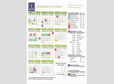 Calendario Escolar para el curso académico 20162017 en la