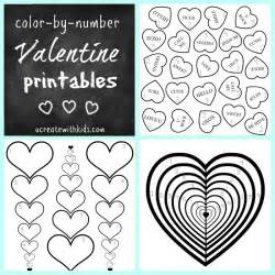 Free Printable Valentine's Color by Number