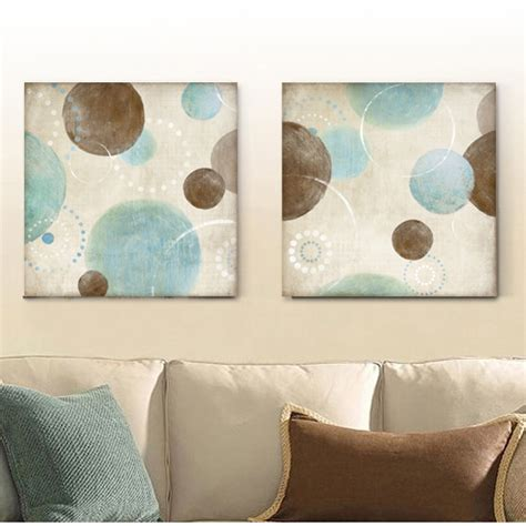 light blue beige and brown circles modern abstract