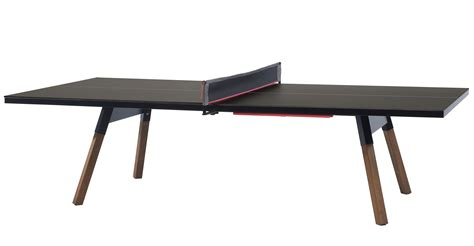 black table l table l 274 cm ping pong dining table black wood