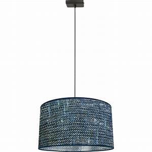 Abat Jour Tissu : suspension 1 lampe abat jour tissu ~ Teatrodelosmanantiales.com Idées de Décoration