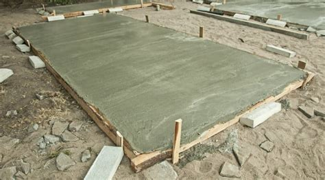 how much does a concrete slab for shed cost