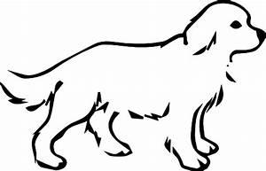 Black And White Dog Clipart - ClipartXtras