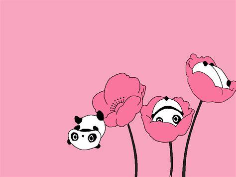 cute panda pink background hd desktop wallpaper instagram