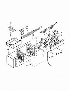 Ice Maker Parts Diagram  U0026 Parts List For Model