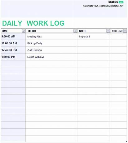 Template Log Daily Templates Journal Excel Task