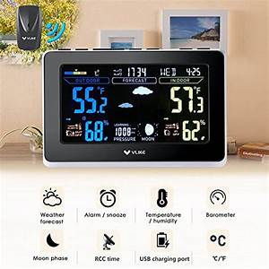 Indoor Outdoor Humidity Chart Vlike Vl1003 Atomic Wireless Weather Station With Outdoor