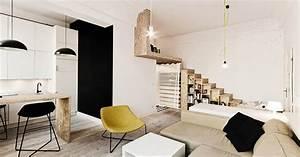 Amenager Studio 15m2 : l 39 am nagement d 39 un studio de 29 m2 bien pens i d co ~ Melissatoandfro.com Idées de Décoration
