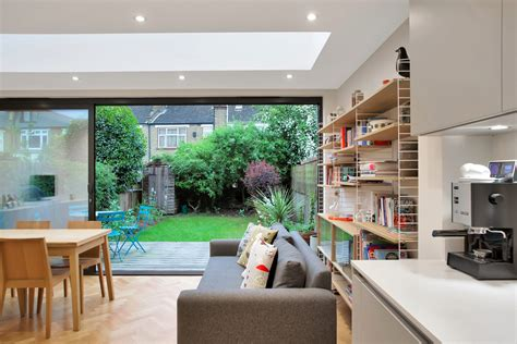 contemporary rear flat roof extension  art  building