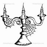 Stampotique Goth Candelabra Coloring Stamp Stamps Joggles sketch template
