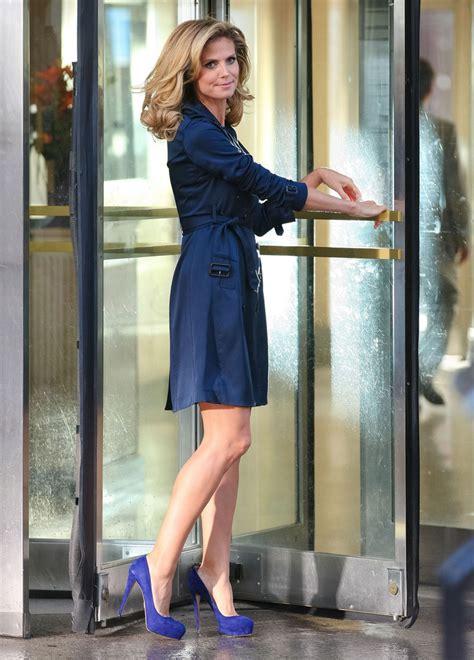 Heidi Klum Photos Filming Commercial