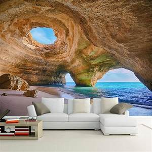 Poster Mural 3d : custom any size 3d mural wallpaper beach reef cave living room bedroom sofa background photo ~ Teatrodelosmanantiales.com Idées de Décoration