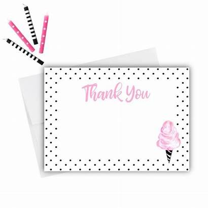 Thank Cards Candy Cotton Press Paper Birthday
