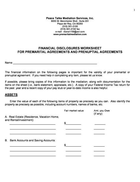 agreement prenuptial template printable forms samples templatelab