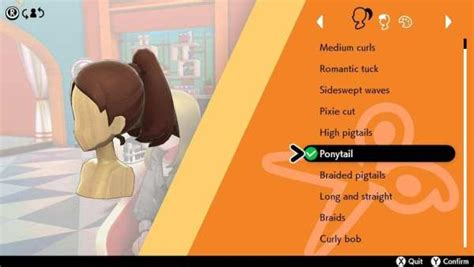 pokemon sword shield  hairstyles   game page