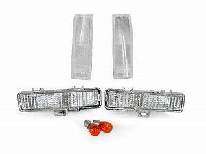 87 S10 Lights Combo Clear Front Corner Bumper Signal Lights For 83 94