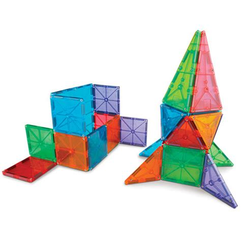 Magna Tiles 32 by Magna Tiles Clear Colors 32 Set The Learning Tree