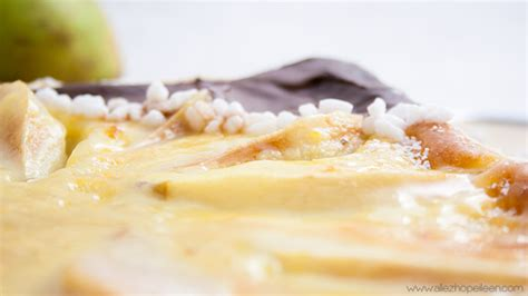 tarte aux poires sur lit de poudre d amandes allez hop eileen