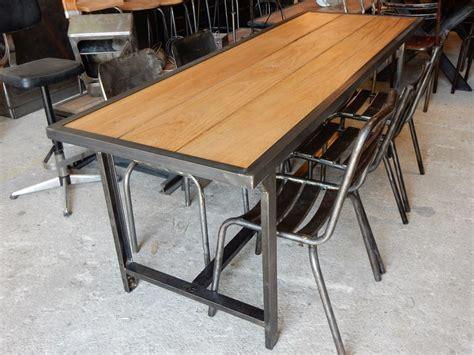 table militaire fer et bois geo nancy design