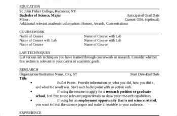 good teachers resume format