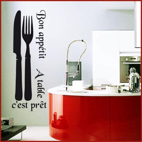 destock cuisine stickers déco cuisine couverts couteau fourchette deco