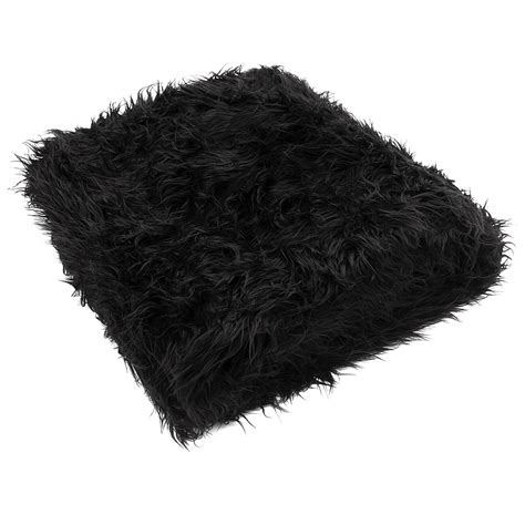 black fur rug black throw rug roselawnlutheran