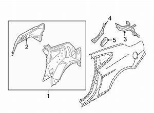 Ford Mustang Quarter Panel Reinforcement  Convertible