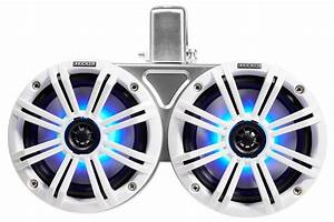 2  Kicker 45kmtdc65w Dual 6 5 U0026quot  Marine Wakeboard Tower Led