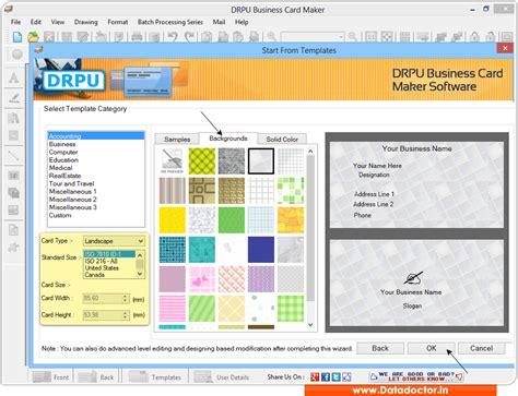 business card notepad business card maker software