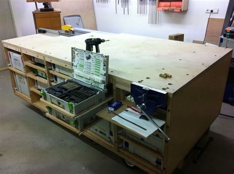 rolling workbench systainer port tablesaw  router
