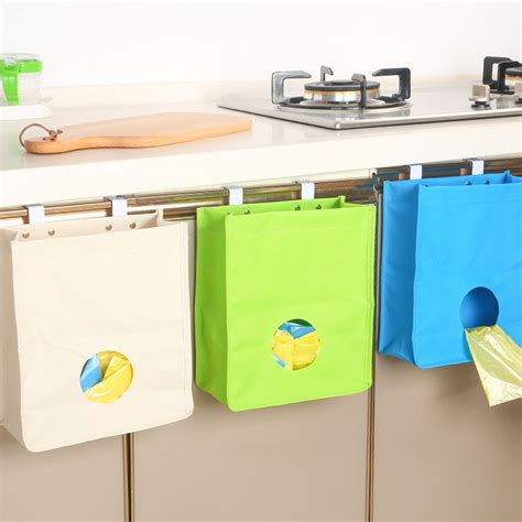 kitchen wall hanging storage kitchen extract garbage bags oxford cloth storage bag 6421