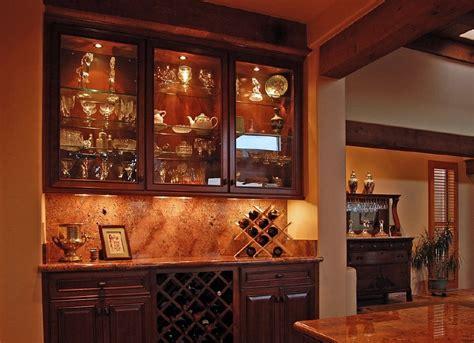 built in wine cabinet bar