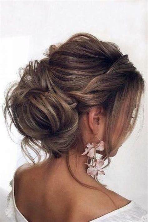 Loose Low Wedding Updo Short Hairstyles 2019