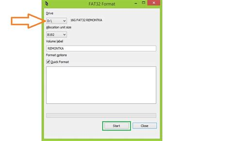 Fat 32 Format Program