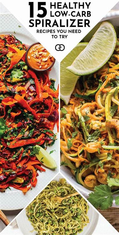 Recipes Spiralizer Low Veggie Carb Healthy Easy