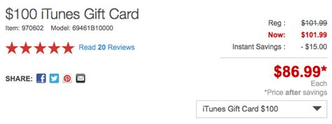 100 itunes gift card for 87 shipped 9to5toys