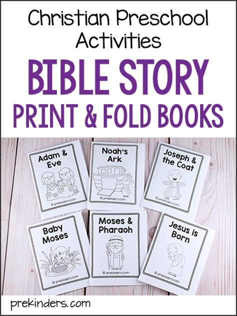 christian preschool activities archives prekinders 932 | bible story print fold books