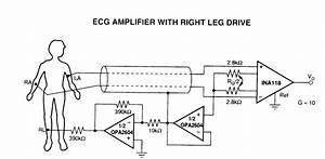 Ecg Amplifier  Opa2604  Circuit Diagram World