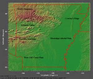 Arkansas Elevation Map