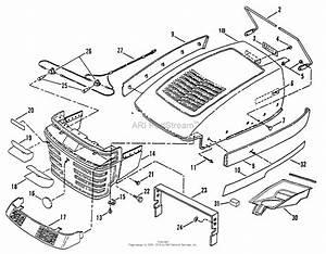 Snapper Lt160h42cbv2 42 U0026quot  16 Hp Hydro Drive Tractor Series C Parts Diagram For Hood  Bumper