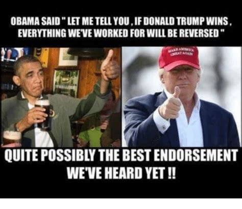 Trump Wins Memes - funny donald trump and obama memes of 2017 on sizzle