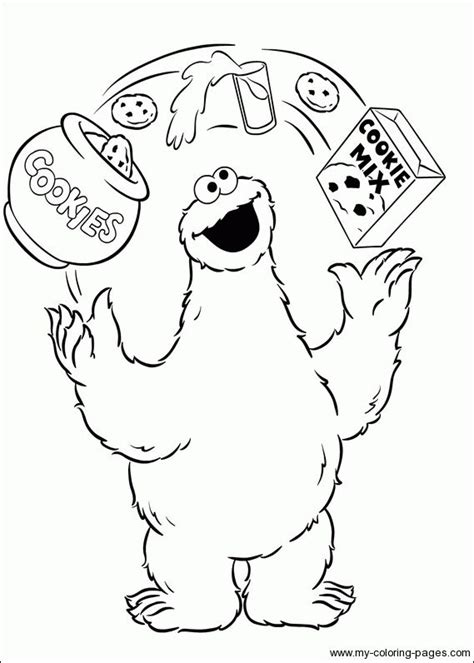 cookie monster coloring pages printable 1(569×796