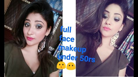 Everything Under 50 Rs Makeup    Full Face Makeup