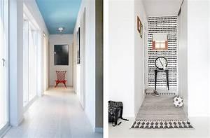 idee deco papier peint couloir With awesome couleur pour couloir sombre 4 deco du couloir en l sol sombre