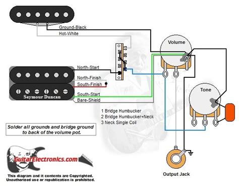 Push Pull Wiring Diagram Jackson by 1 Humbucker 1 Single Coil 3 Way Lever Switch 1 Volume 1